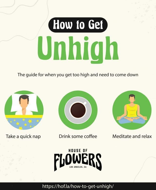 infographic explaining how to get unhigh